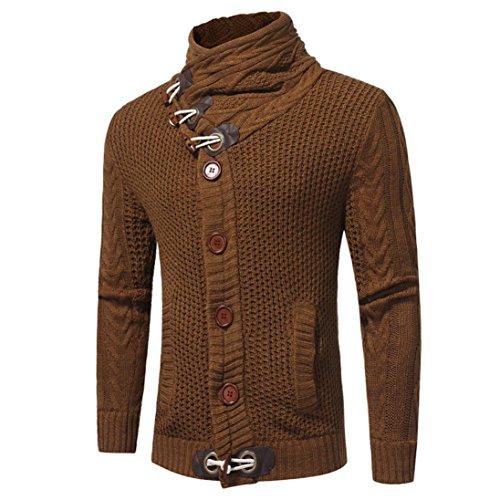 KEERADS Herren Strickpullover Strickpulli Sweatshirt Pullover Rollkragenpullover