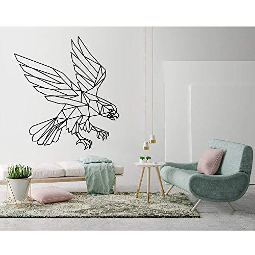 BFMBCH Adler Wandkunst Aufkleber Moderne Geometrische Dekoration Wohnzimmer Schlafzimmer Vinyl Applique Wandbild Fliegen Tier Aufkleber Kinderzimmer Spielzimmer Wandaufkleber 30 lila 57x62 cm