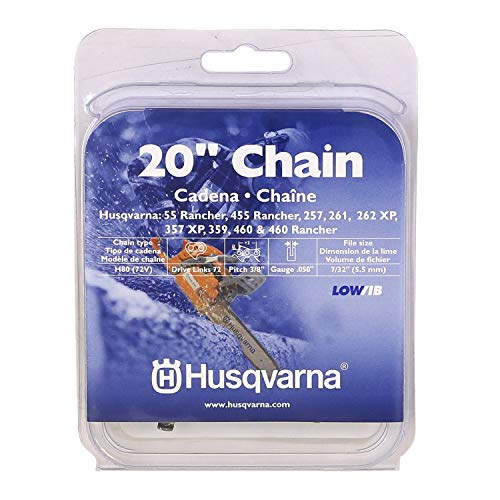 Husqvarna Chainsaw Chain 20' .050 Gauge 3/8 Pitch Low Kickback Low-Vibration