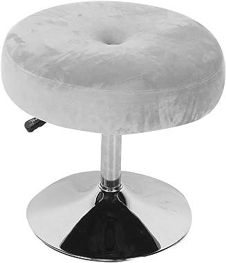 Ejoyous Tabouret de Vanité Réglable Tabouret en Velours, Siège de Coiffeuse pour Adultes Chaise de Coiffure Ronde Rotative à