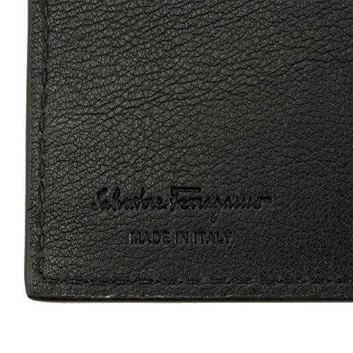 FERRAGAMO(フェラガモ)二つ折り札入れ財布ブラックマイクロスタッズロゴ66A3760704567[並行輸入品]