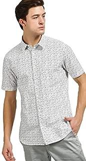 DJ&C By fbb Men's Printed Regular Fit Casual Shirt