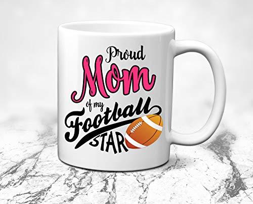 ArthuereBack Voetbal-Mamma-beker, trots voetbalgeschenk voor mamma-koffiekopje, voetbal-mamma-cadeau-sportbeker, gepersonaliseerde koffiemok, voetbal-teammageschenk