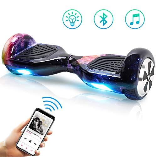 TOEU Hoverboard Scooter Elettrico Autobilanciato, con Bluetooth e Luci LED, Ruote 6,5 Pollici,...