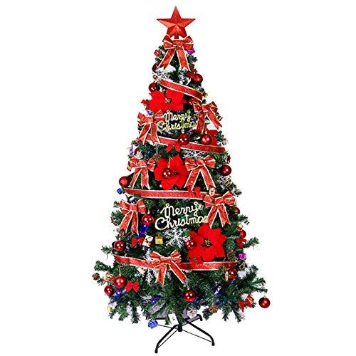 Árboles de Navidad RENRUIRUI 180CM con Accesorios De Decoración De Bricolaje, Base De Metal, for Decoración De Fiesta De Navidad De Oficina En Casa