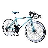 OVINEE Bicicleta de montaña,Bicicleta Plegable de 20 pies para Adultos y Teens Unisex,Bicicleta de montaña Color Arcoiris 26 Pulgadas,Mountain Bike (D)