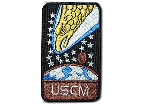 Parche bordado con diseo de guilas de Aliens Screaming Eagles USCM