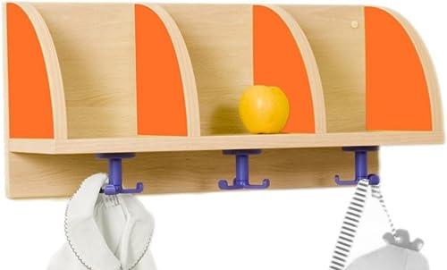 "diseño único Mobeduc Mueble Perchero ""quesitos"" ""quesitos"" ""quesitos"" 3 Casillas 605, Haya, Haya y naranja, 61x22x28 cm  mejor moda"