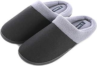 Unisex Memory Foam Slipper Women's Cozy Slippers Fuzzy Wool-Like Fleece House Shoes  Man's Indoor Outdoor Comfy Slippers