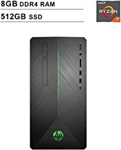 2019 Newest HP Pavilion 690 Gaming Desktop (AMD 8-Core Ryzen 7 2700 3.2GHz up to 4.1 GHz, 8GB DDR4 RAM, 512GB SSD, AMD Radeon RX 580 4GB, WiFi, Bluetooth, DVD, Windows 10 Home)