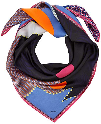 Roeckl Damen Pattern Landscape 100x100 Mode-Schal, Multi Blue, ONE Size