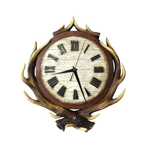 XZJT Creative Antlers Home Walls Clocks Living Room Bedroom Decorated Resin Walls Clocks Individuality Silent Clocks Clocks