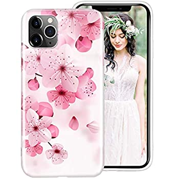 iPhone 6S Case iPhone 6 Case for Women Girls iDLike Floral Flower Cherry Blossom Pattern Cute Design Soft Silicone Protective Phone Case Cover for Apple Apple iPhone6S / iPhone6 4.7 Pink