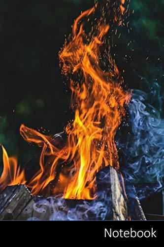 Notebook: Fuego, El Espíritu De La Llama, Cara, Aspecto Cuaderno / Diario / Libro de escritura / Notas - 6 x 9 pulgadas (15.24 x 22.86 cm), 110 páginas, superficie brillante