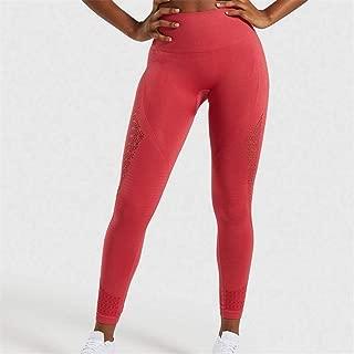 Jinqiuyuan Seamless Leggings Women Hip Push Up Yoga Pants High Waist Booty Leggings Stretchy Tights Women Leggings Sport Fitness (Color : G, Size : L)