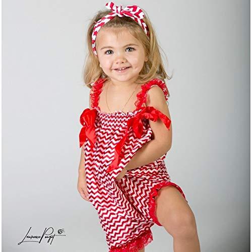 Salopette bébé Bubble façon sarouel, modèle Zig Zag rouge 0/6 mois