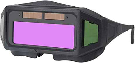 yotijar Capacete de Soldagem com Escurecimento Automático de 1 Peça Óculos de Proteção Óculos de Proteção