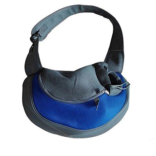 Kleine Pet Tragetasche für Hunde und Katzen, Outdoor-Umhängetasche, Reisetasche für Yorkie, Chihuahua (S: 38 * 10 * 20 cm, Blau)