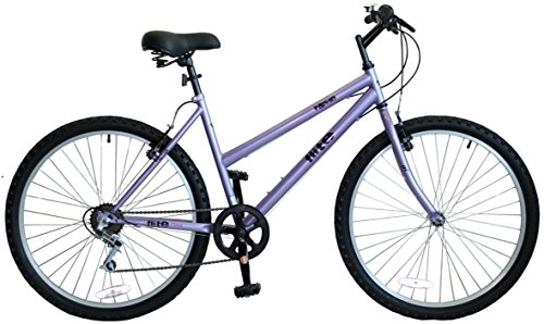 Flite Rapide Women's Mountain Bike Purple, 17 Inch Steel Frame, 18-speed Rigid MTB Frame Built with Comfort and Speed in Mind