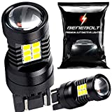 7441 bulb - BENEBOLT 3600 Lumens 7440 LED Bulb White - 7443 W21W T20 7441 7444 LED bulb - Mega LED Reverse lights - Brake light - Tail lights with HD Projector Lens and Cooling Vents - 2 Pack