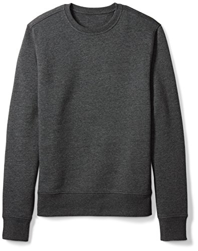 Amazon Essentials Crewneck Fleece Sweatshirt, Charcoal Heather, Medium