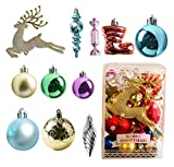 30PCS Bolas De Plástico Para Adornos Navideños,Adornos De Bolas Navideñas Irrompibles,Bolas de Navidad,Adornos De Bolas De Arbol De Navidad,Bolas De Arbol De Navidad