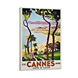 ERTYM Dekoratives Vintage-Poster Ete Cannes HIVER für