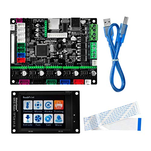 KOOKYE 3D Printer Parts MKS Robin nano Integrated Circuit mainboard Controller Motherboard with Robin TFT28 Display closed...