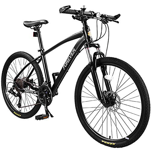 Mountain Bike per Adulti con Forcella Ammortizzata/Freno a Doppio Disco Hardtail Mountain Trail Bikes 27 velocità 26 Pollici in Lega di Alluminio Full Suspension Mountain Bike