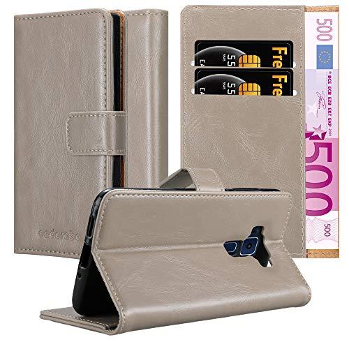 Cadorabo Custodia Libro per Asus ZenFone 3 in MARRONE CAPPUCCINO - con Vani di Carte, Funzione Stand e Chiusura Magnetica - Portafoglio Cover Case Wallet Book Etui Protezione