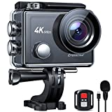 Crosstour CT9900 Action Camera 4K 60FPS Microphone 8X Zoom Ultra HD EIS Touch Screen Waterproof Sports Camcorder With Remote Control/Two Rechargeable Batteries and Accessories Kits