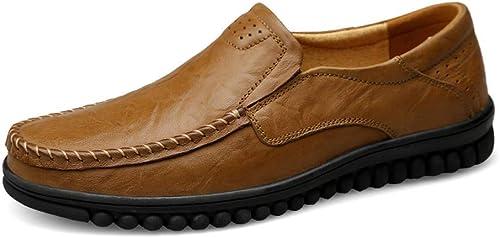 Hommes Driving Loafers Décontracté Mode Slip on Winter Fleece à l'intérieur de la Botte Haute (Classique en Option) antidérapant (Couleur  Kaki Chaud, Taille  7.5 UK) (Couleuré   -, Taille   -)