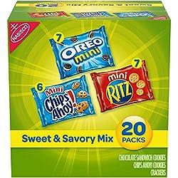 Nabisco Sweet & Savory Mix Variety Pack, OREO Mini Cookies, Mini CHIPS AHOY! Cookies, and Mini RITZ