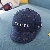 mlpnko Babymütze Cowboy Boy Baseballmütze 1-3 Mädchen Visier Kindermütze dunkelblau (Mützenumfang 47-50cm)
