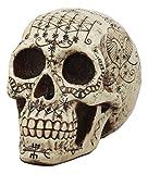 Ebros Erzulie Freda Veve Haitian Ancient Voodoo Love Spells Romance Talisman Tattoo Skull Statue Gothic Skull Lwas Voudou Loa of Love Day of The Dead Skeleton Cranium Figurine