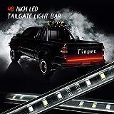 "Tailgate Light Bar, Tinpec 48"" Red/white Tailgate LED Strip Light Bar Truck Reverse"
