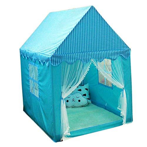 Tiendas de campaña Carpas para niños Casitas Infantiles Interiores Salidas para Carpas para niños Carpas Plegables para niños y niñas Carpas para Juegos al Aire Libre (Color : Blue)
