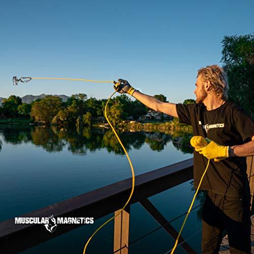 625lb 283kg Double Sided Fishing Magnet Bundle 100feet High Strength Nylon Rope