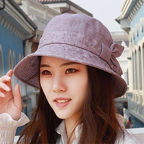 YANGFEIFEI-MZ Hat das Mädchen zerrissene Tuch Cap Becken Cap Fischer Hut Hüte niedrig, Visor Visor Mutter Kappe, Lila/A