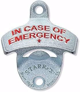 In Case of Emergency Embossed Funny Wall Bottle Opener