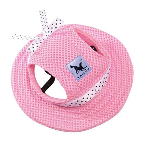 Aisoway Dog-Hut-Sommer-Tuch Mesh-Breathable Haustier Sonnenhut Leinwand Für Kleinen Hund Haustier-Produkte Rosa Größe M