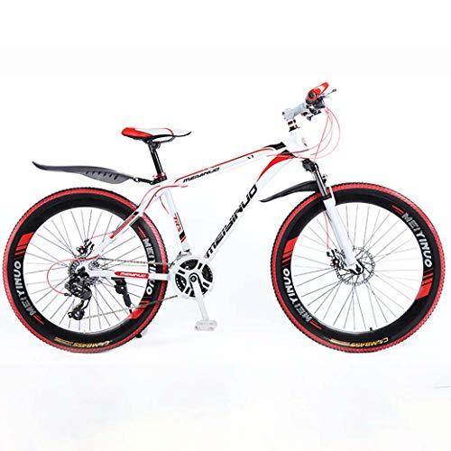 ZTYD 26In 24 De Velocidad De Bicicletas De Montaña De Edad, Estructura De Aluminio Ligero De Aleación Completa, La Rueda Delantera Suspensión para Hombre De La Bicicleta, Freno De Disco