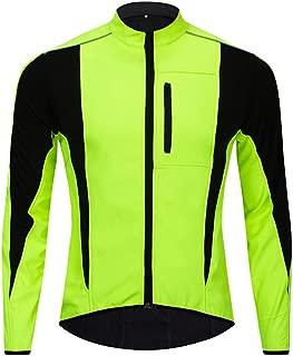 Thermal Fleece Cycling Jacket Men Windproof Waterproof Warm Up Bicycle Clothing