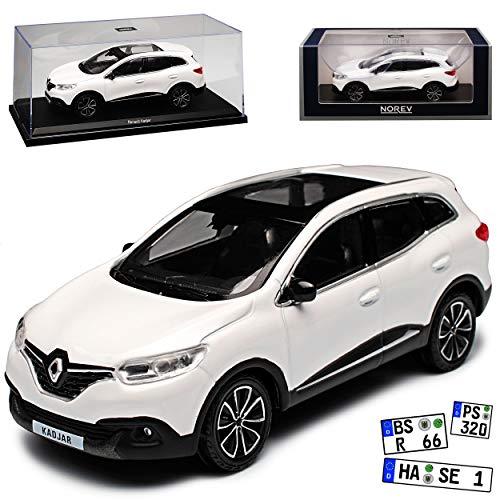 mächtig der welt 2015 Modell 1/43 Norev Renault Kadjar Weiss, persönliche Registrierung