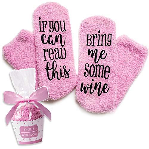 Pinke Luxus-Wein-Socken mit