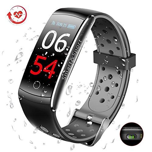 SUPTEMPO Pulsera de Actividad Inteligente, Pulsera Actividad Reloj Inteligente con Monitor Presión Arterial y Frecuencia Cardíaca, para Dispositivos Android y iOS