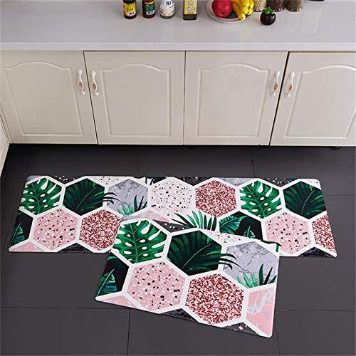 WESG Alfombrillas Antideslizantes de Cocina, Alfombrillas de Entrada Impresas en 3D para Sala de Estar, Dormitorio, Pasillo, alfombras Lavables para baño NO.13 50X80cm y 50X160cm