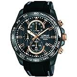 Lorus Herren Chronograph Quarz Uhr mit Silikon Armband RM317DX9