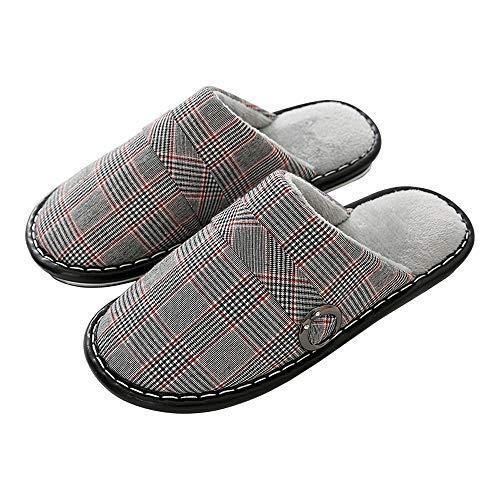 Suela de goma tacón de madera superior de piel sin Anti Slip Easy Close planta ancha Pantuflas de mujer cuña baja ocasionales cómodos de algodón premium zapatillas duraderas de interior al aire libre