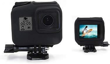 telesin carcasa de silicona para GoPro Hero5Black Edition marco vivienda, cámara Frame caso cubierta de goma Protector piel para Hero5marco caso